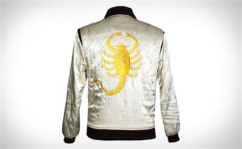 drive jacket drive trucker gosling bomber satin jacket with embroidered