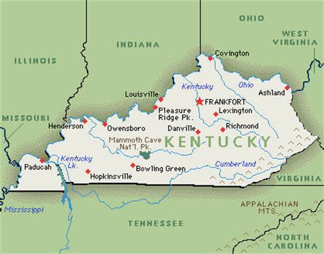 State Of Kentucky Map by State Of Kentucky