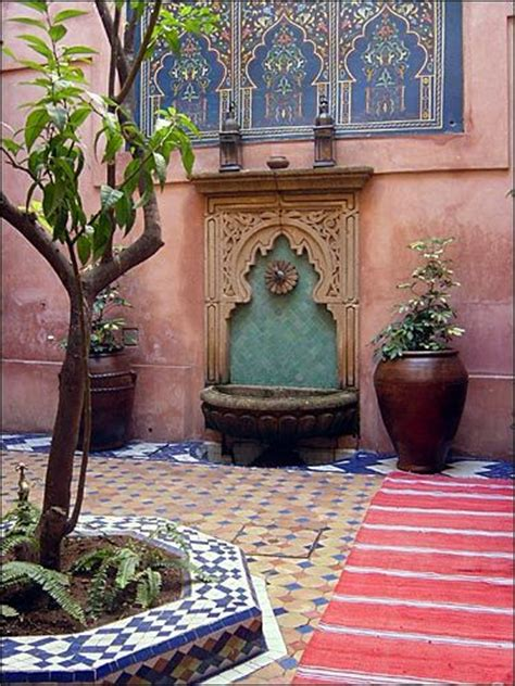 Interior Home Scapes by Moroccan Courtyard Homey Pinterest