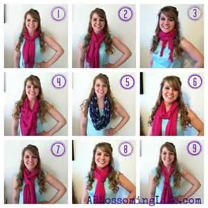 Easy ways to wear a scarf