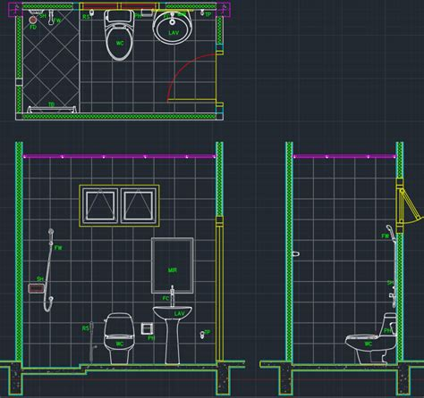 bathroom cad blocks free download bathroom layout free cad blocks and cad drawing