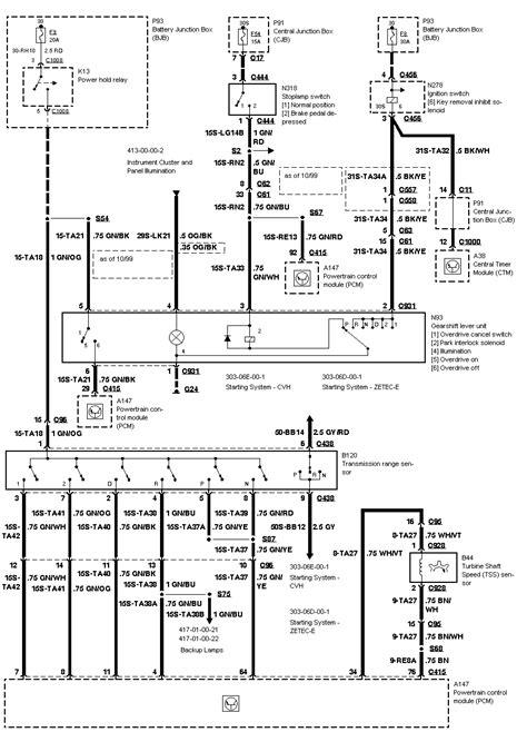 2000 ford focus: a wiring diagram