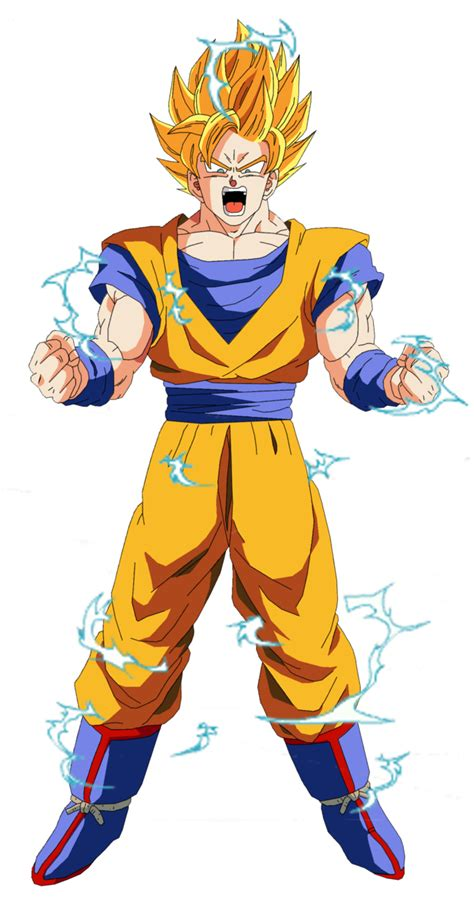 Pajangan Goku Saiyan 2 goku saiyan 2 render by odinanimation on deviantart