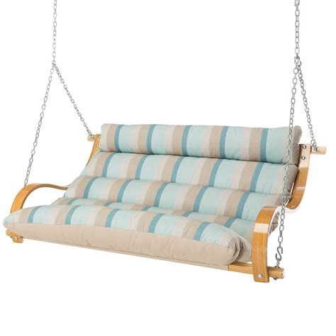 cushioned porch swing gateway mist deluxe cushioned double porch swing