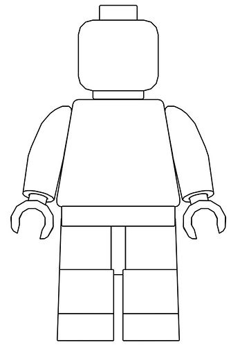 Lego Minifigure Template by Minifigure Stencil Flickr Photo