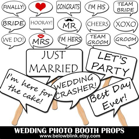 free printable photo booth props speech bubbles wedding photo booth speech bubble props printable photo