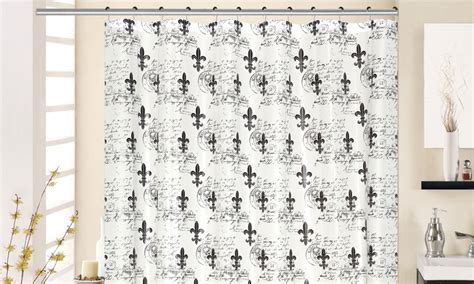 fleur de lis shower curtain fleur de lis printed peva shower curtain groupon