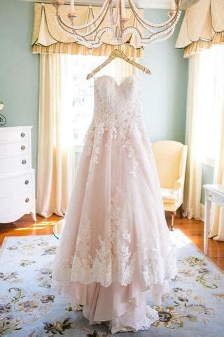 Light Blush Pink Sweetheart Tulle Wedding Gowns With Lace Appliques ? Simibridaldress