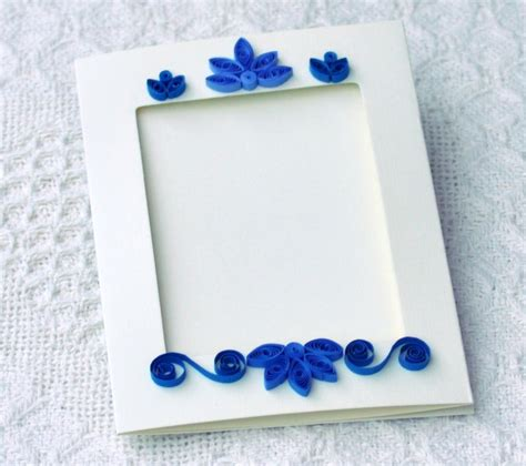 Handmade Paper Photo Frames Designs - quilling quilled card photo frame paper frame paper