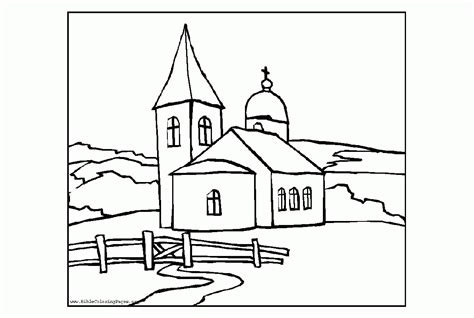 christian church coloring pages coloring pages of a church coloring home