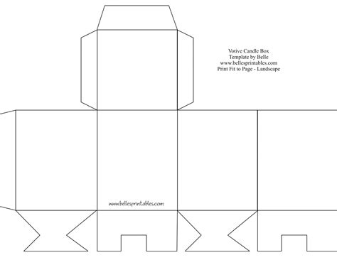 templates of boxes 8 best images of free printable box templates free