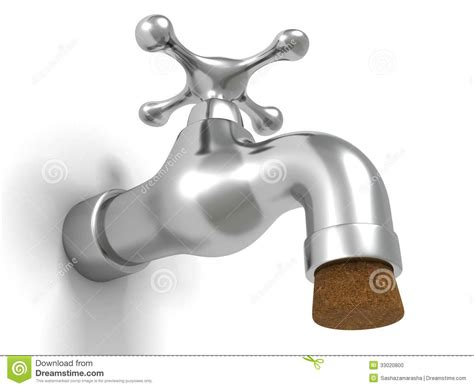 Plumbing Supplies Cork by Metallic Shiny Faucet Tap Water Sink Plumbing Cork Stock