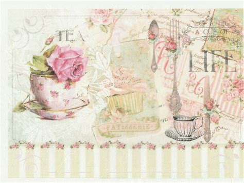 Decoupage Scrapbook Paper - rice paper decoupage scrapbook sheet craft vintage cup of