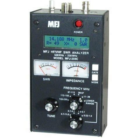 mfj 259c antenna analyzer 530 khz 230 mhz us seller fast shipping 650619028379 ebay