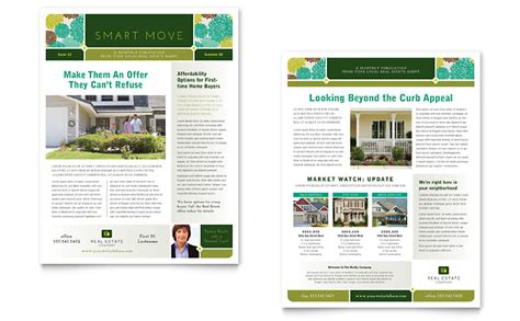 Real Estate Newsletter Template Word Publisher Microsoft Real Estate Templates