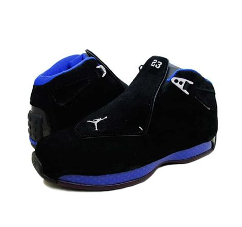 and blue basketball shoes air 18 black and blue basketball shoes 305869 041