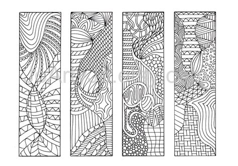 printable bookmarks to colour pdf zendoodle pdf bookmarks to print zentangle inspired