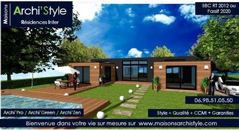 Maison En U Avec Patio by Patio Plain Pied 1 En U Toit Plat Ou Avec Un Toit