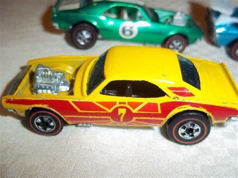 A9 2417 Mainan Diecast Wheels Matchbox Second 1974 wheels redline heavy chevy yellow enamel camaro shows