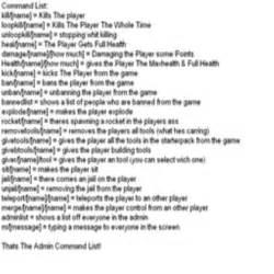Admin command list roblox