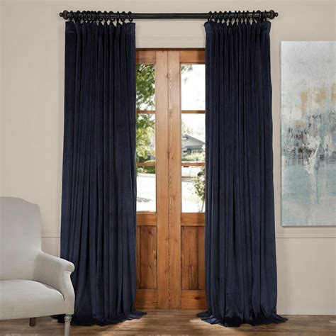 Midnight Blue Curtains Designs Exclusive Fabrics Furnishings Blackout Signature Midnight Blue Doublewide Blackout Velvet