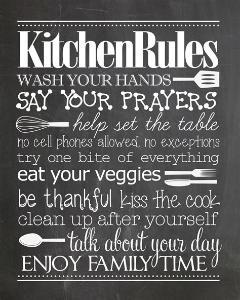 Personalized Signs For Home Decorating by Kitchen Rules Free Printable How To Nest For Less