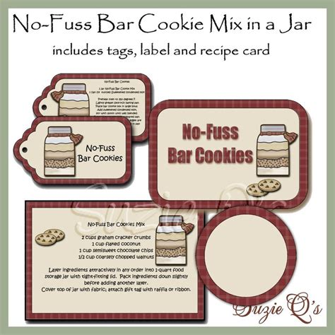 printable cookie jar labels 31 best images about food in a jar on pinterest best
