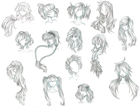 cool hairstyles drawing anime hair by aii cute on deviantart