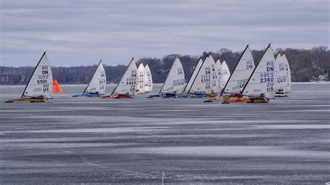 ice boat ice boat racing madison wisconsin photograph by steven
