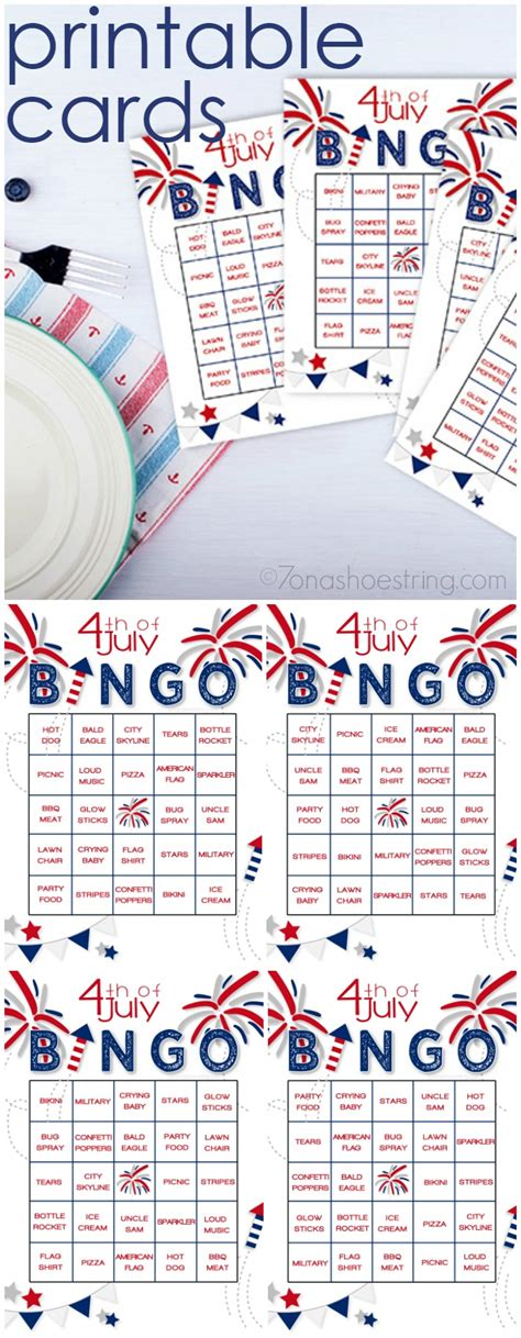 Fourth Of July Cards Printable