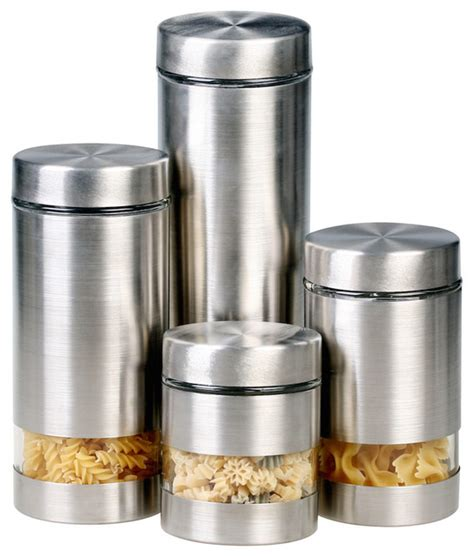modern kitchen canisters amazing contemporary canister sets rotunda 4 piece canister set modern food storage