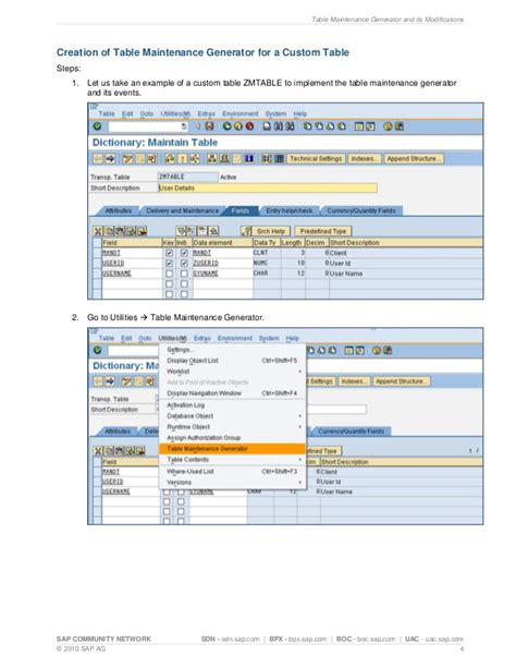 its theme generator sap table maintenance generator and its modifications