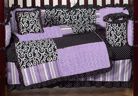 Purple And Black Baby Bedding Bedroom Ideas Pictures Purple And Black Crib Bedding