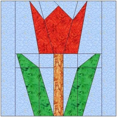 Tulip Quilt Pattern Block by The World S Catalog Of Ideas