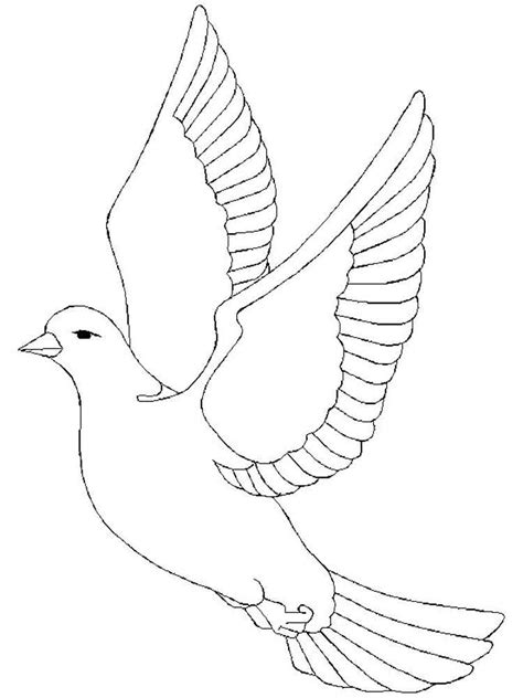 dove coloring pages download and print dove coloring pages