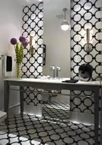 Bathroom Wallpaper Black And White Gojupanja