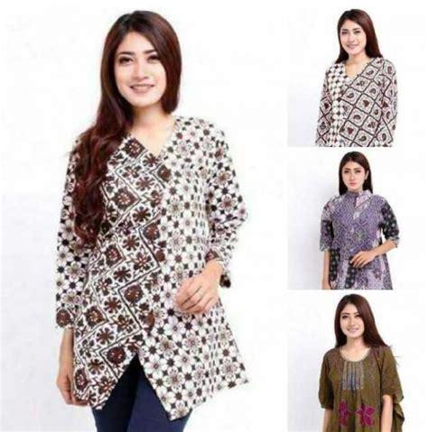 tren pakaian simpel modern rompil hijaber goriau ini dia model baju batik wanita asli indonesia