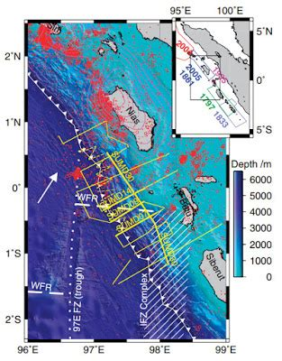 mapping downgoing plate topography: the 2005 sumatra