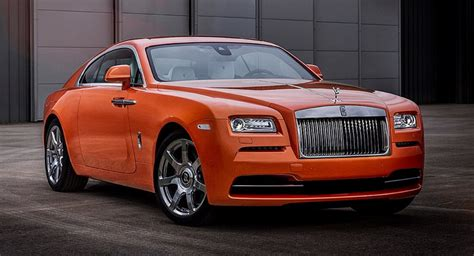 roll royce orange bespoke orange metallic rolls royce wraith oozes modern luxury