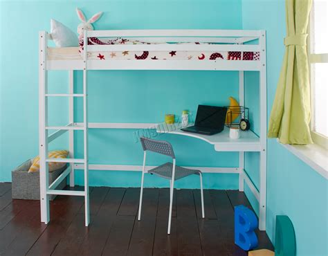 single bunk bed with desk foxhunter high sleeper cabin wooden frame bunk bed with