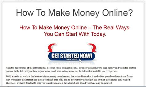 Make Money Online Squeeze Page - why microsite marketing beats squeeze page marketing nichevertising s blog on