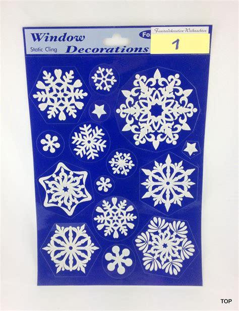 fensterdeko zum kleben weihnachten weihnachts fensterdeko bilder 20 x 30 cm schneeflocke