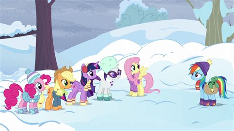 Winter 5 Magic Ponies by Image Mane Six In Winter Clothes With Tank S5e5 Png My