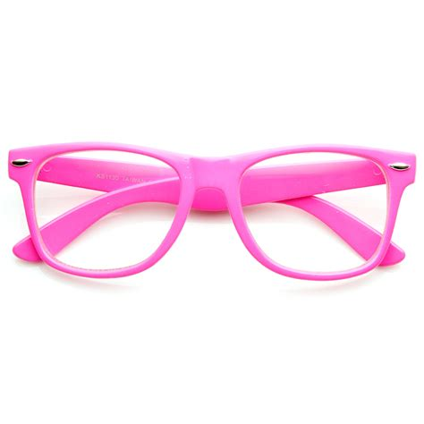 retro neon color horn rimmed style eyeglasses