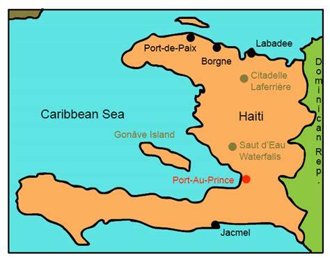 printable map haiti haiti for kids