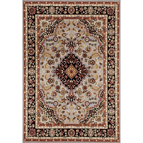 home world rugs world rug gallery traditional medallion design gray 5 ft x 7 ft area rug 9100 gray 5 x 7