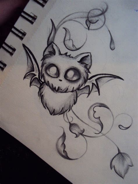 easy tattoo bat baby bat by ameliaeerie on deviantart