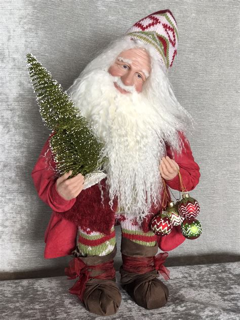 Handcrafted Santas - soup santas collectable handcrafted santa figures
