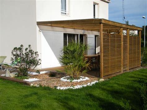 terrasse en vue brise vue en bois pour terrasse