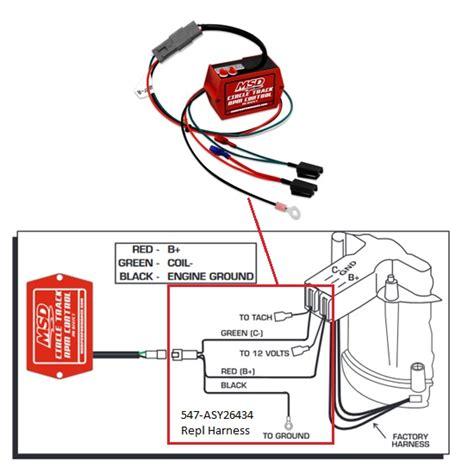 wiring diagram msd distributor 8572 crane distributor